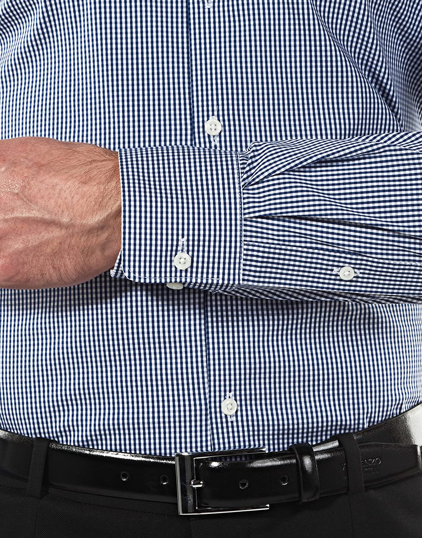 Manga-Larga Body-fit el/ástica y Muy Agradable Muy Entallada Cuello Kent f/ácil de Planchar Easy Iron Lisa Mezcla de algod/ón Vincenzo Boretti Camisa de Hombre
