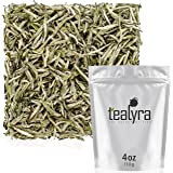 Tealyra - Premium White Silver Needle Tea - Bai Hao Yinzhen - Organically Grown in Fujian China - Superior Chinese Silver Tip White Tea - Loose Leaf Tea - Caffeine Level Low - 110g (4-ounce)