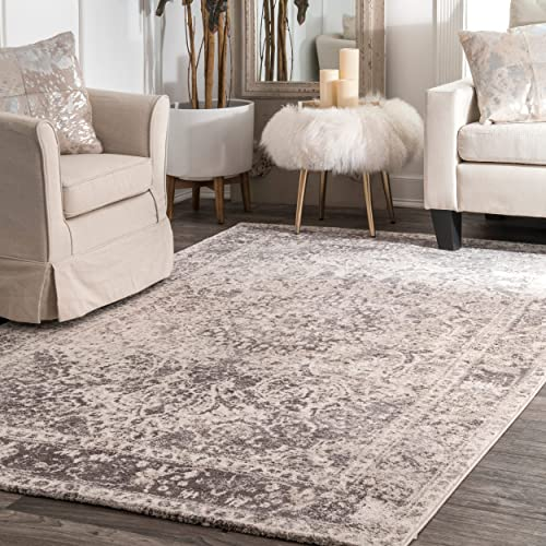 Natural Area Rugs 100 Natural Fiber Handmade Dubai, Beige Sisal Rug, 6 x 9 Oval Malt Border