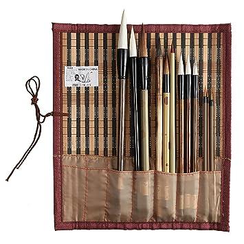 Pluma de pincel de escritura china tradicional para caligrafía Learners-L