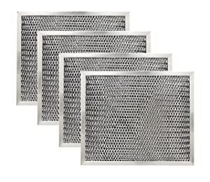 Kitchen Basics 101: 97007696 Charcoal Range Hood Filter Replacement for Broan 6105C (4)