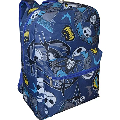 "Disney Boy's Nightmare Before Christmas 16"" Backpack W/ Laptop Pocket- Blue"