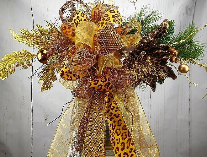 Amazon.com: Leopard Tree Topper, Leopard Lantern Swag, Leopard ...