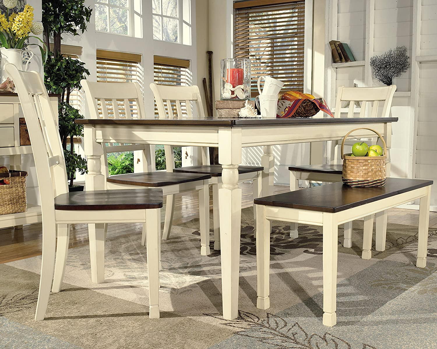 amazon com ashley furniture signature design whitesburg dining