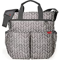 Skip Hop Messenger Diaper Bag With Matching Changing Pad (Grey Feather)