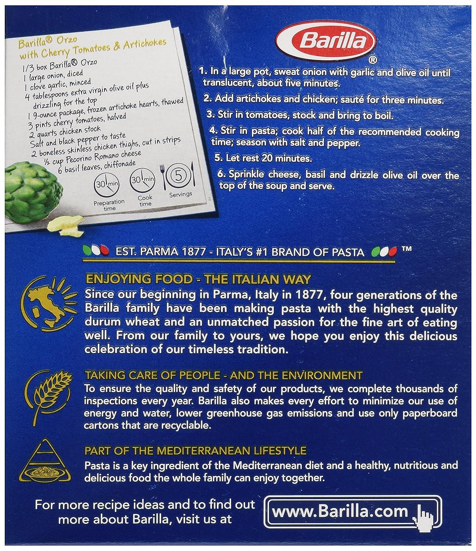 Amazon Barilla Orzo Pasta 16 Oz Grocery & Gourmet Food