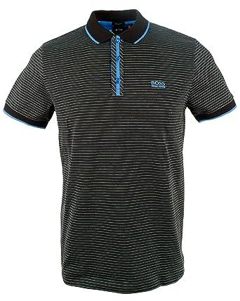 2d0c67ce Amazon.com: Hugo Boss Men's Short Sleeve Black Striped Polo Shirt: Boss  Hugo Boss: Clothing