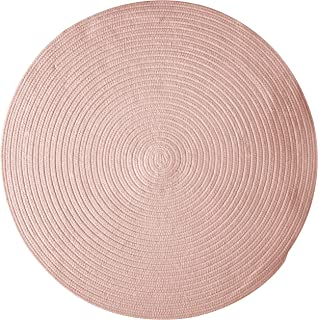 product image for Colonial Mills Bristol Polypropylene Braided Round Rug, 6-Feet, Blush Pink