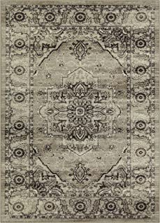 product image for Maples Rugs Distressed Lexington Area Rugs Carpet for Living Room & Bedroom [Made in USA], 5 x 7, Neutral