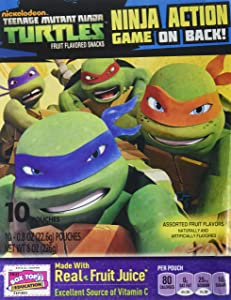 Betty Crocker Fruit Snack - Teenage Mutant NINJA TURTLES - (10) 0.8oz Pouches, 4 BOXES