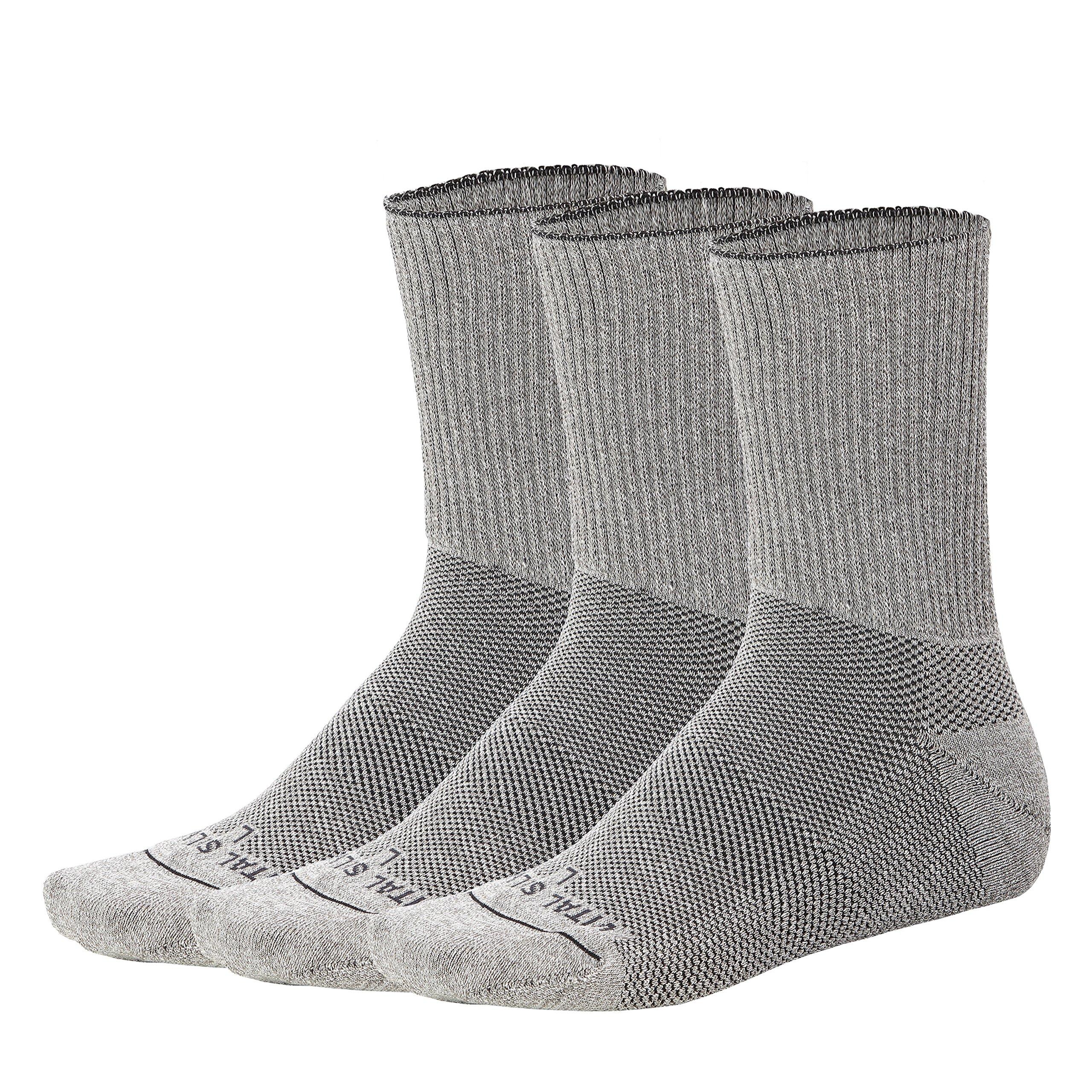 Vital Salveo- Soft Non Binding Seamless Circulation Diabetic Socks- Crew long (3 pairs) L by Vital Salveo