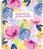"bloom daily planners Undated Academic Year Teacher Planner Lesson Plan Book 9"" x 11"" - Watercolor Floral"