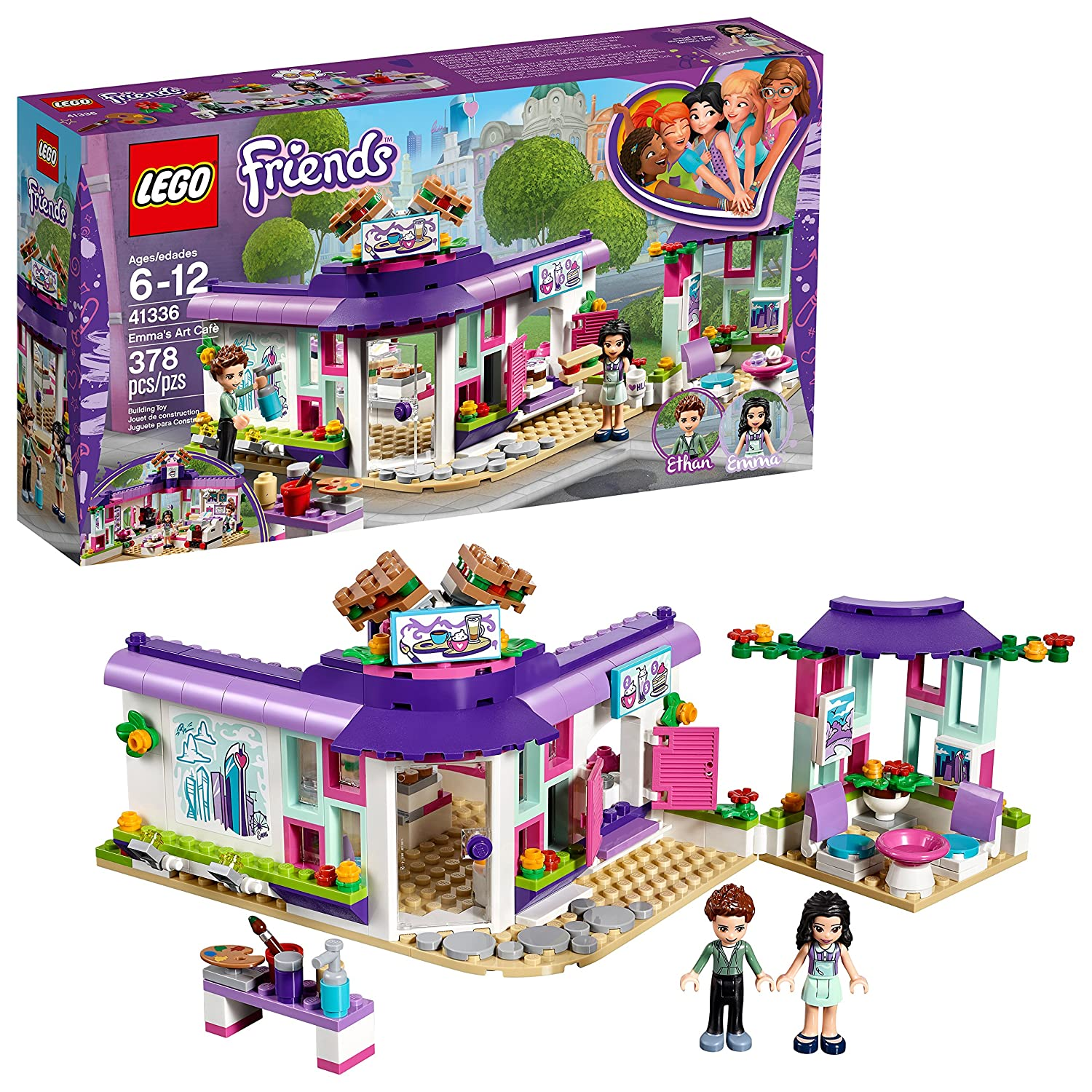 LEGO Friends 6213453 Emma's Art Café 41336 Building Kit (378 Piece)