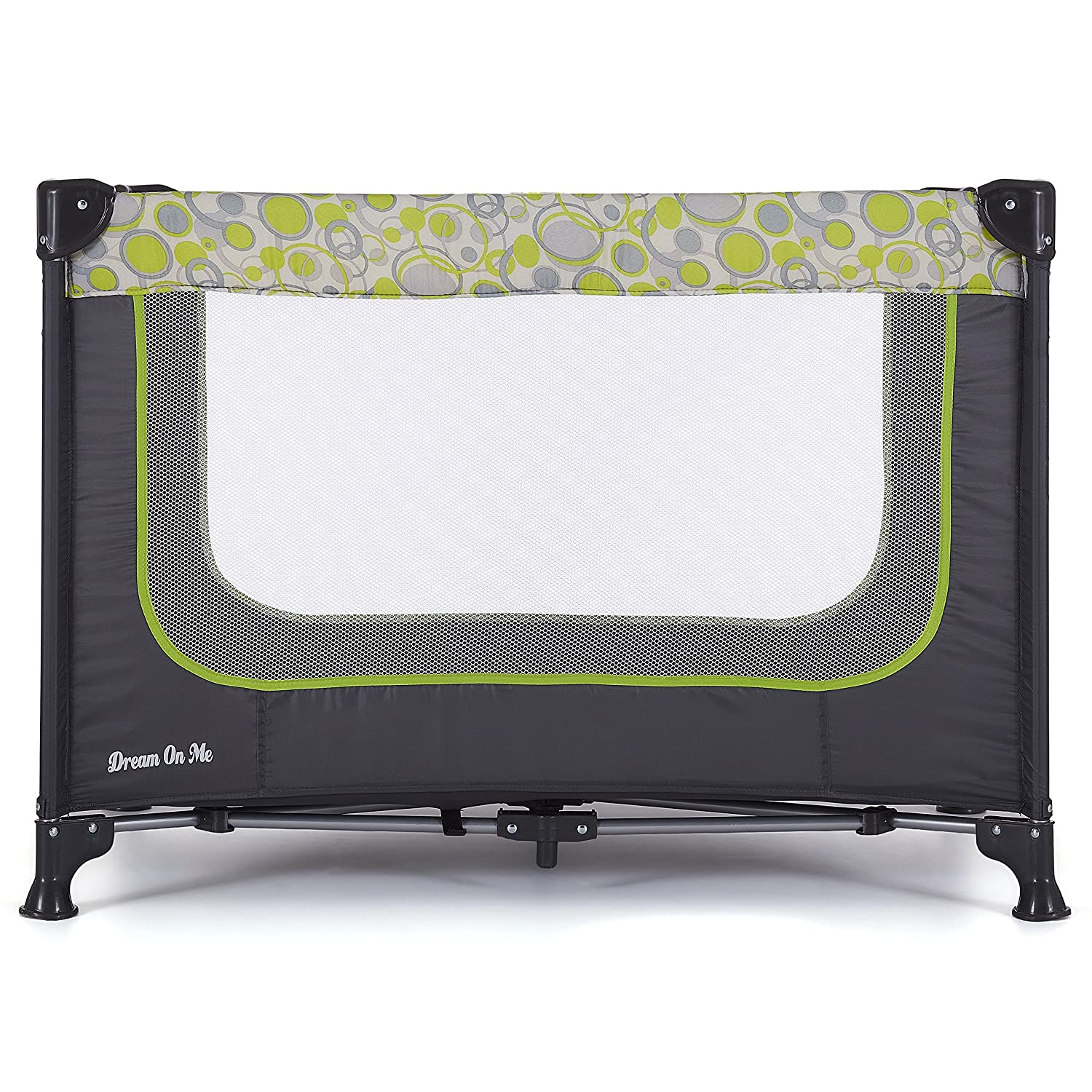 Dream On Me Zodiak Portable Playard, Grey/Green 438-GG