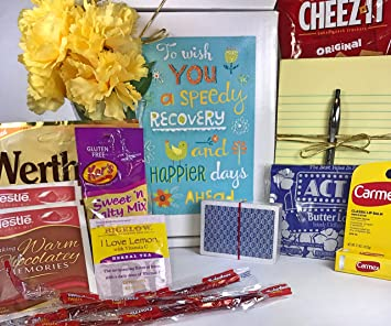Get Well Gift Box Basket Care Package For Surgery Injury Cold Flu Illness