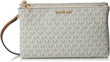 10d02687c750 Image Unavailable. Image not available for. Colour: michael kors adele  signature double gusset crossbody ...