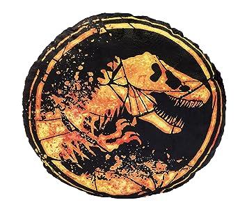 Jurassic World 75445 Iconic Cojín Redondo de Peluche – Ambos Lados – Diámetro: ...