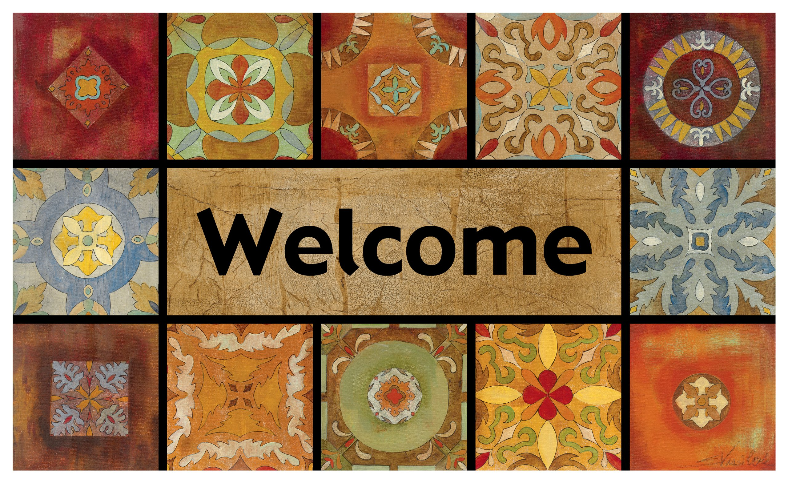 Mohawk Home Gypsy Wall Welcome Doormat, 18 by 30-Inch