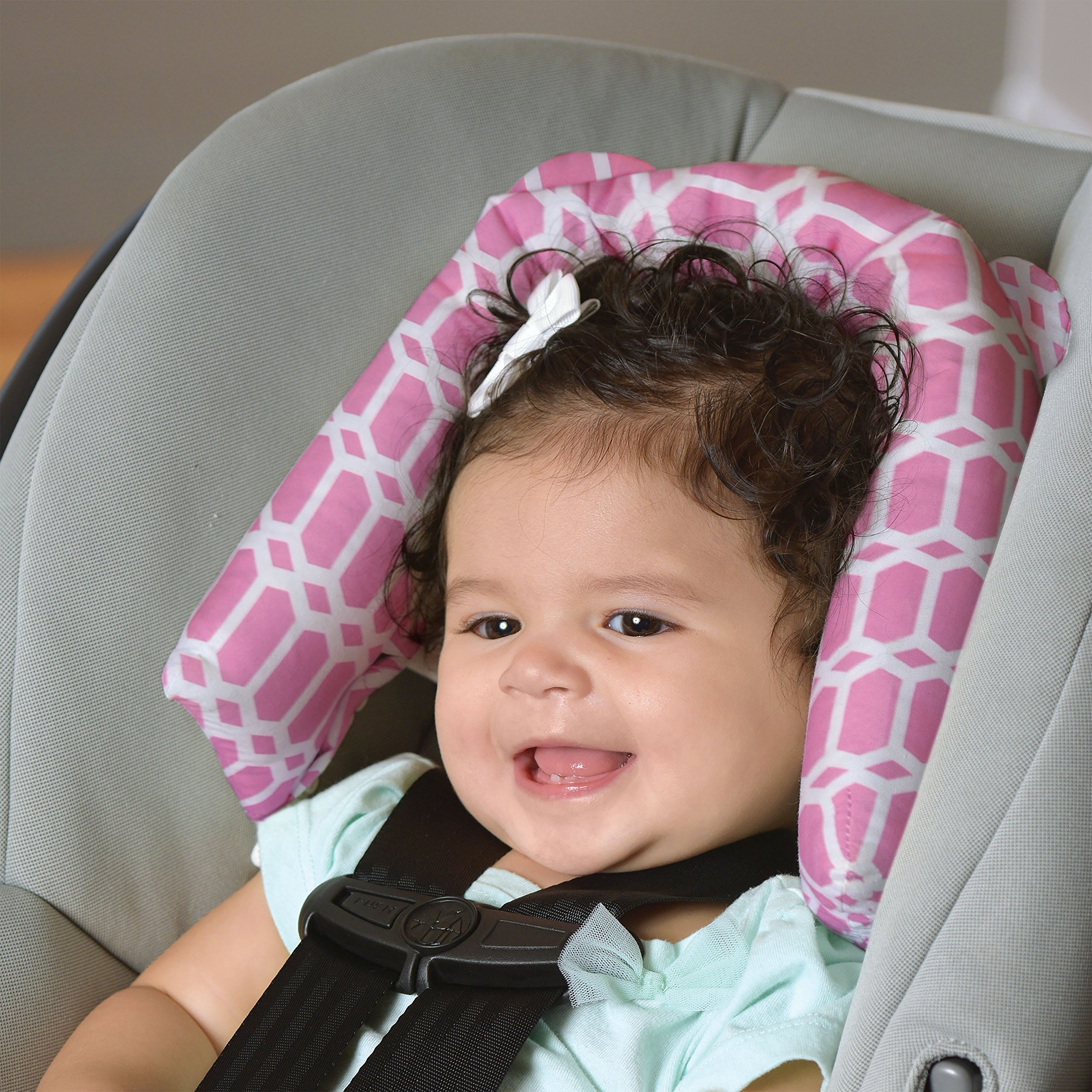 Goldbug 2-in-1 Infant Car Seat Head Support Pink, White by Goldbug (Image #3)