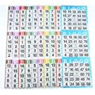 product image: Bingo Paper Game Cards - 3 cards - 10 sheets - 100 books - 4 Inch by 12 Inch Size Disposable Sheet - Made in USA