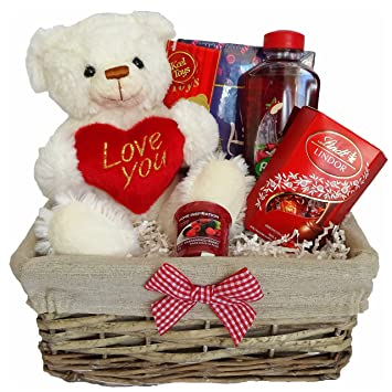 Valentines Day Gift Basket Hamper For Her Wife Girlfriend