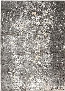 """Kathy Ireland Worldwide kathy ireland Home Heritage KI353 Charcoal Grey 8'x11' Oversized Rug, 8' x 10'5"""""""