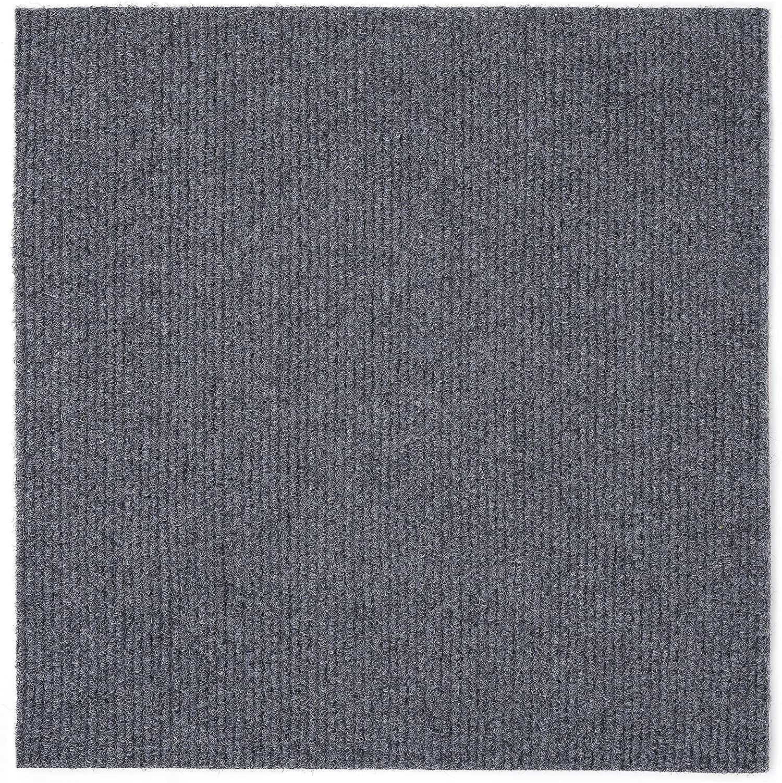 Achim Home Furnishings NXCRPTSM12 Nexus 12 inch x 12 inch Self Adhesive Carpet Floor Tile, 12 Tiles/12 Sq', Smoke
