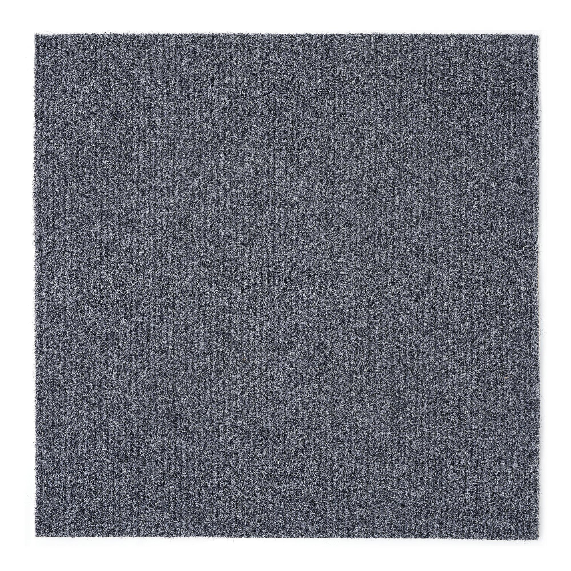 Achim Home Furnishings NXCRPTSM12 Nexus 12 inch x 12 inch Self Adhesive Carpet Floor Tile, 12 Tiles/12 Sq'., Smoke by Achim Home Furnishings