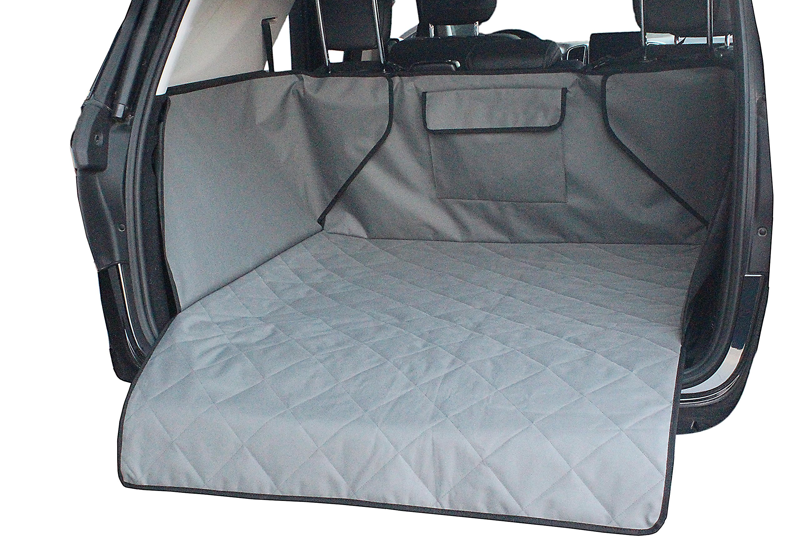 INNX Quilted SUV Dog Cargo Liner, Dog Cargo Cover for SUV, Waterproof to protect your SUV, Minivans, Jeeps (Gray, 52'' Lx41 Wx17.7 H)