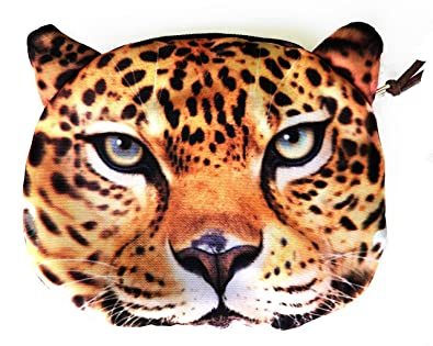 Amazon.com: cartera Cute Tiger Leopard Lion Dos Cara cierre ...