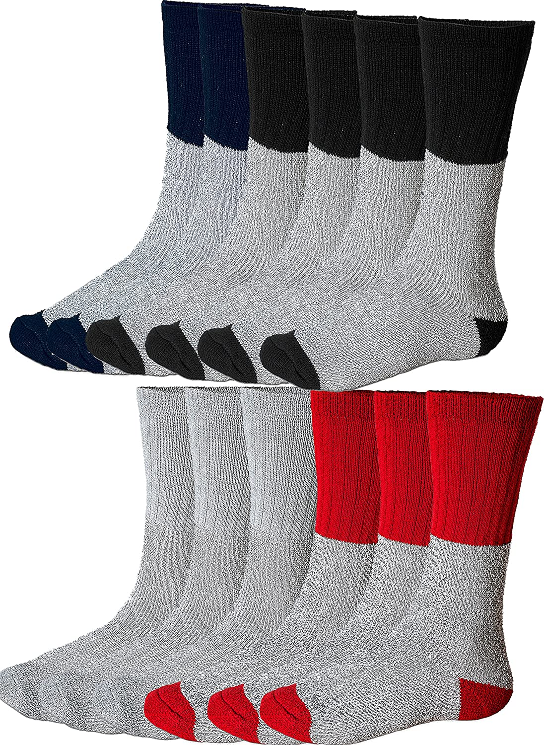 3,12Pairs Men/'s Super Warm Heavy ThermaI double lnsulated WlNTER Socks ONE SlZE