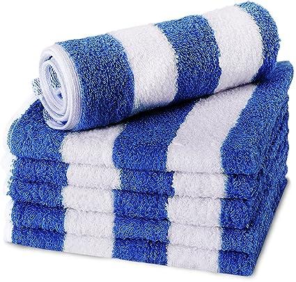 Utopia Towels - Toallas de playa de algodón, 30 x 30 cm- Cabana Stripe