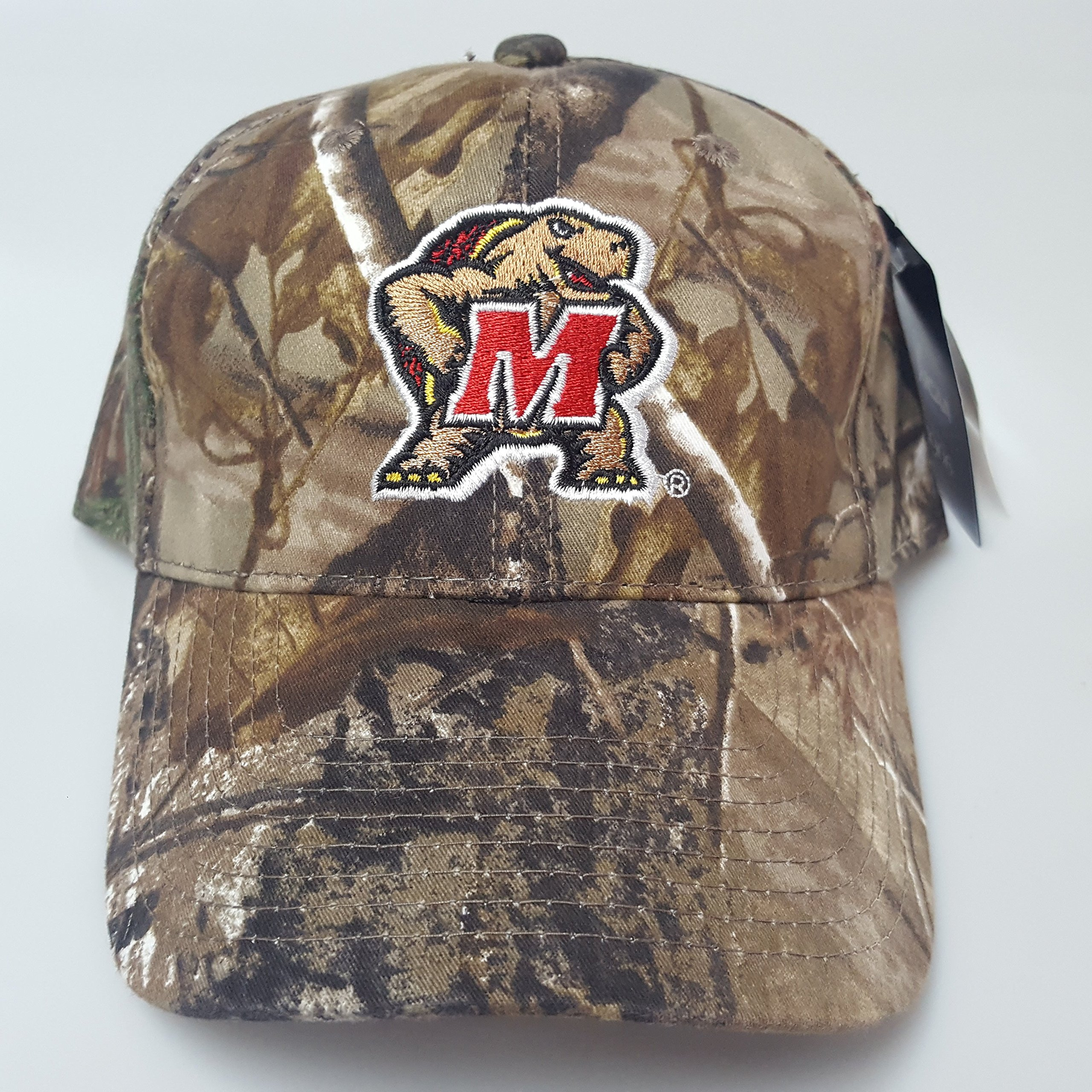 NCAA New Real Tree Maryland Terps Embroidered Adjustable Buckle Back Cap by NCAA