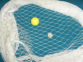 """20/' x 15/' Soccer Baseball Softball Barrier Net 2/"""" #7 white diamond nylon netting"""