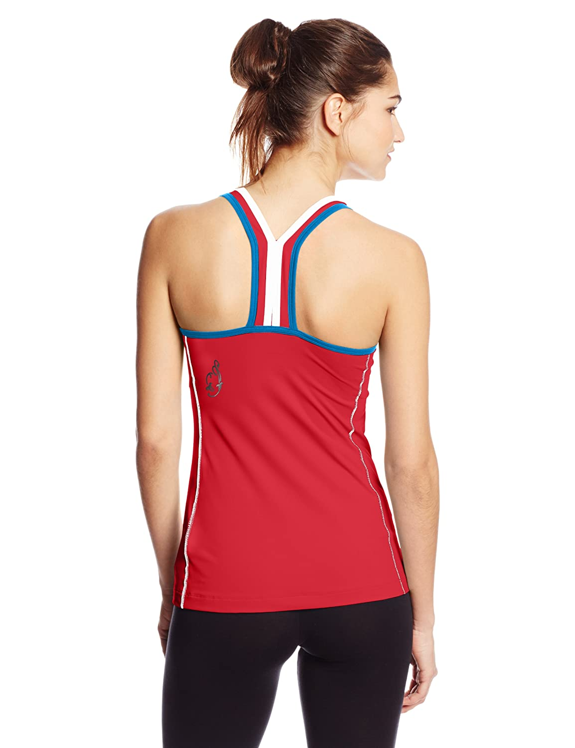 Gore Running Wear Womens Sunlight Lady Top Coral Red//Waterfall Blue Medium