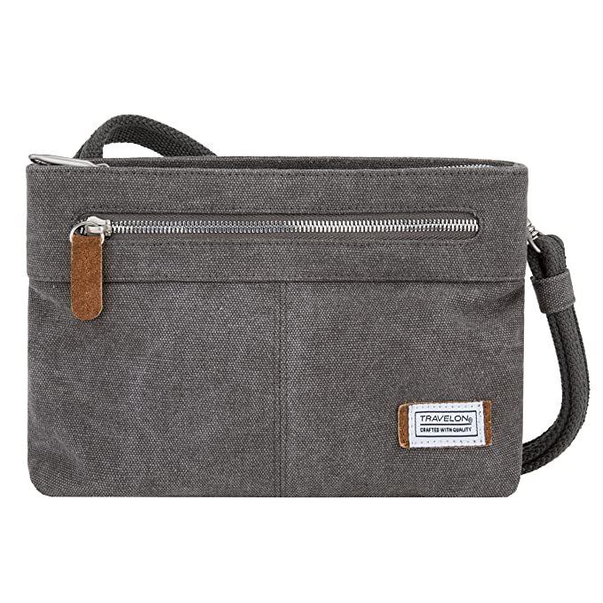 Travelon Women's Anti-Theft Heritage Small Crossbody Cross Body Bag, Pewter, One Size - 33226 540 best crossbody bags