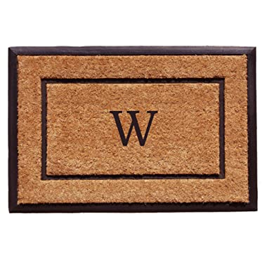 Calloway Mills Home & More 101632436W The General Monogram Doormat, Letter W