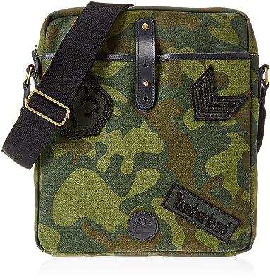 Timberland Cross Body Bag, Sacs portés main mixte adulte, (Green Camo), 5x33x29 cm (W x H L)