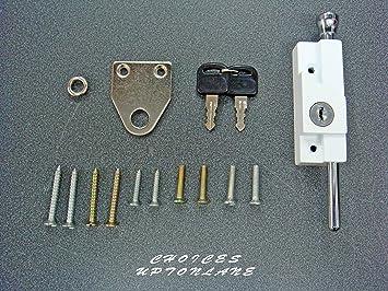 AK Multi Purpose puerta Perno para metal/madera con bisagra y puertas correderas (color blanco): Amazon.es: Bricolaje y herramientas