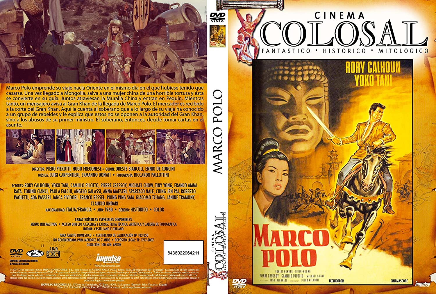 Marco Polo [DVD]: Amazon.es: Rory Calhouin, Yoko Tani, Piero ...