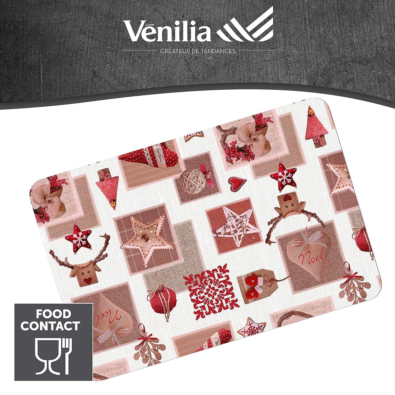 antid/érapant r/ésiste /à la chaleur et fait Venilia Set de table LOVE IN THE AIR Polypropyl/ène 4 pcs 59068 45 x 30 cm