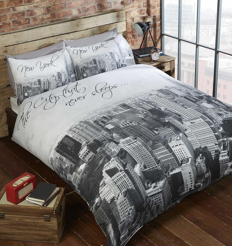 Rapport Homes The City That Never Sleeps Bettdecken- und Kopfkissenbezug-Set (Mono, Einzelbett)