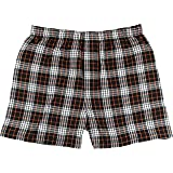 Boxercraft Adult Classic Flannel Boxers - Orange/Black - XL