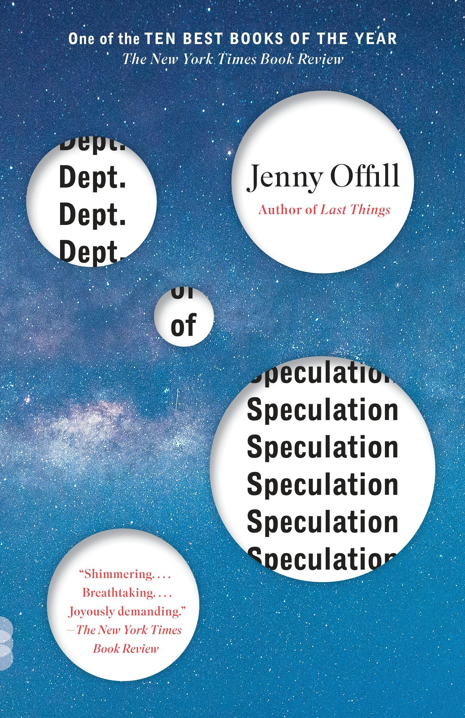 Image result for dept of speculation book