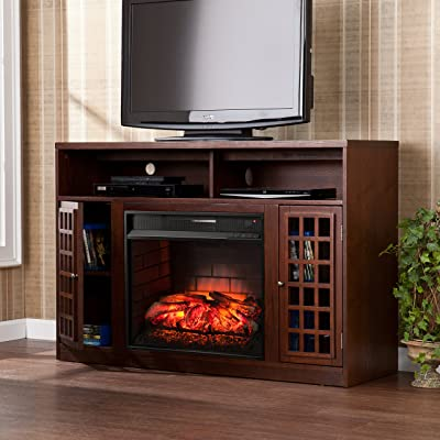 Southern Enterprises Sei Narita Media Console with Infrared Electric Fireplace