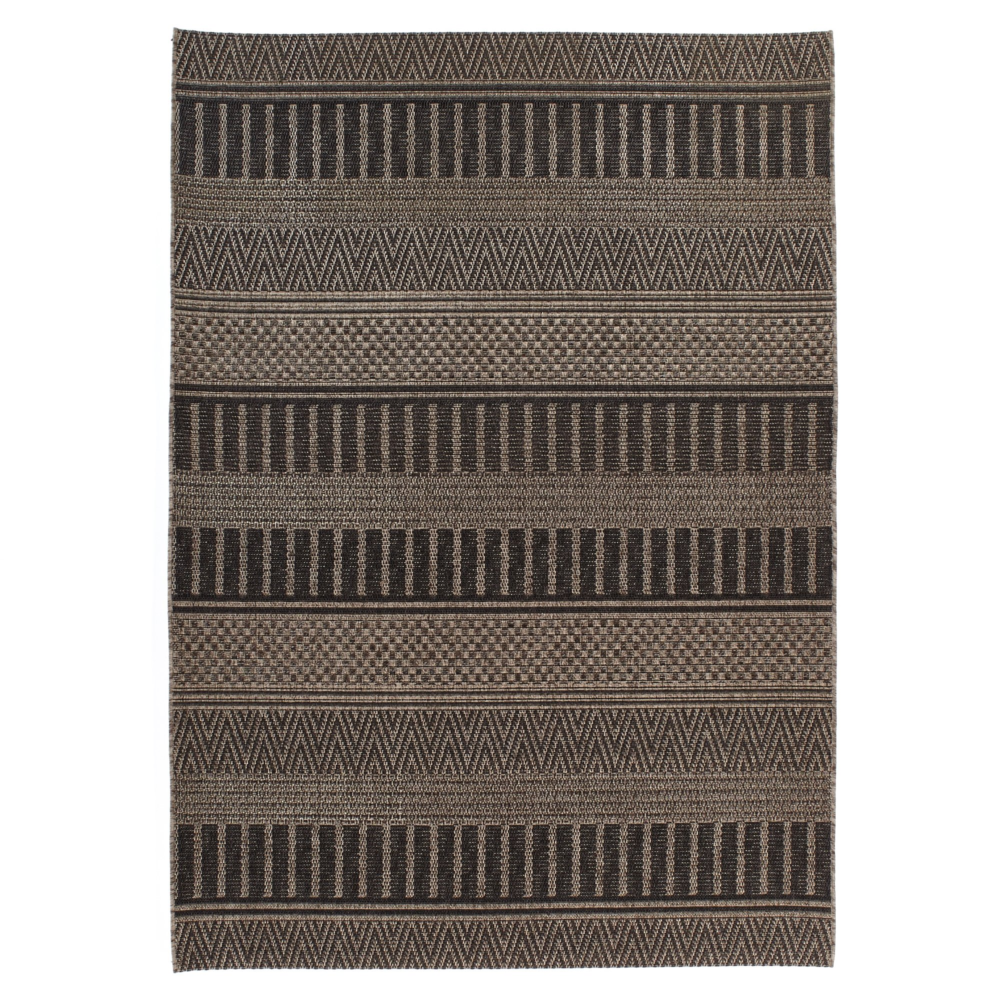 Carpet Art Deco Bay Club Collection Indoor Outdoor Rug, 5'3'' x7'5, Grey