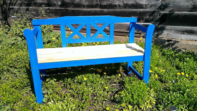 Amazon.de: Blaue Gartenbank aus Holz, Friesenbank