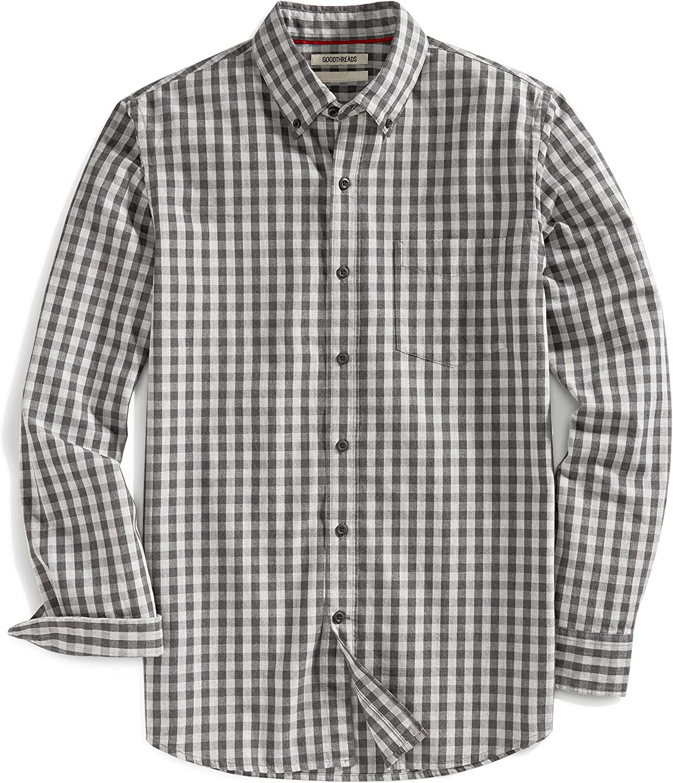Goodthreads Mens Slim-Fit Long-Sleeve Gingham Slub Shirt Brand