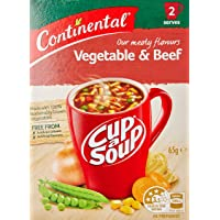 Continental Cup A Soup Vegetable & Beef, 2 Pack, 7 x 65g
