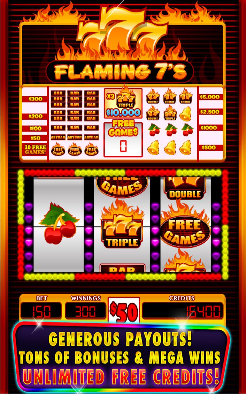 Flaming 777 Slots Games